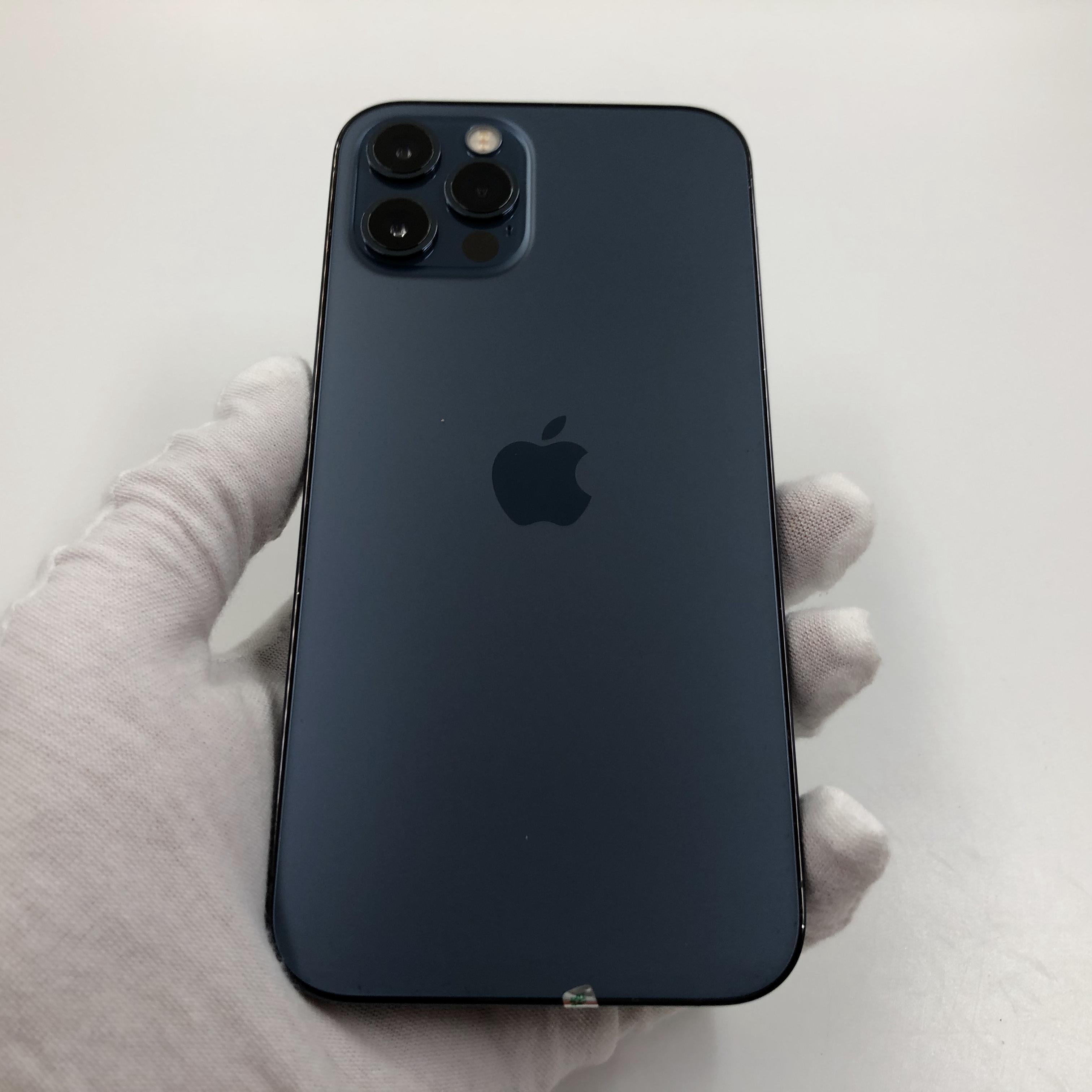 苹果【iPhone 12 Pro】5G全网通 海蓝色 128G 国行 95新 真机实拍官保2021-12-01