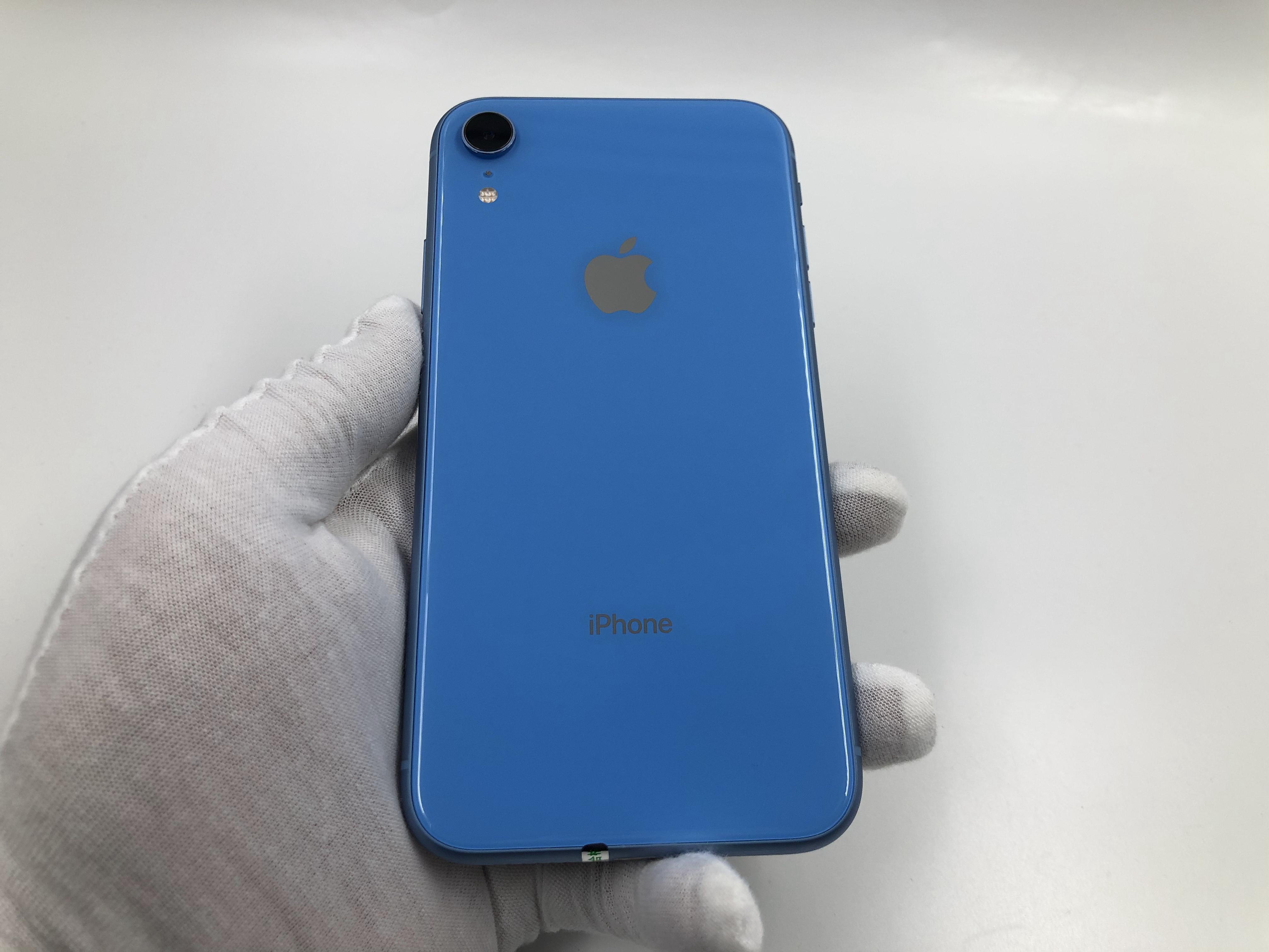 苹果【iPhone XR】4G全网通 蓝色 128G 国行 8成新 真机实拍