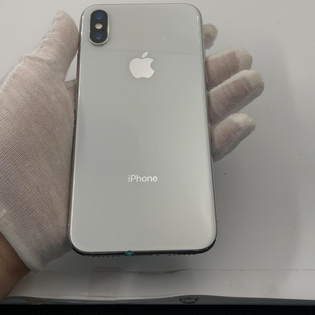 苹果【iPhone X】4G全网通 银色 256G 国际版 8成新