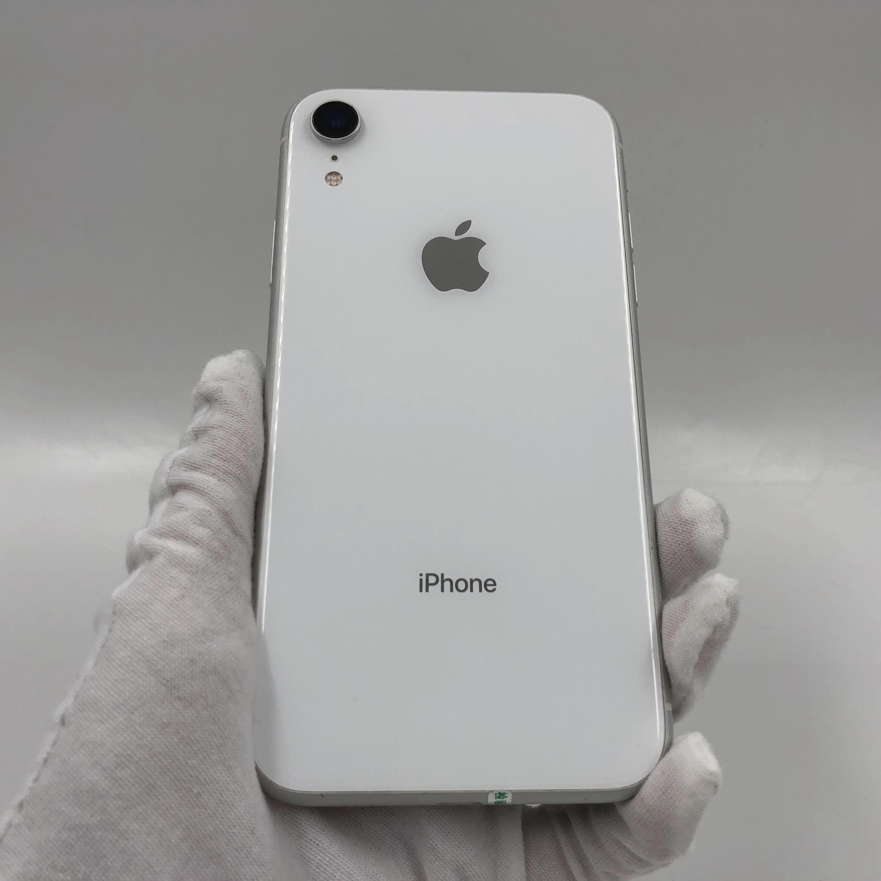 苹果【iPhone XR】4G全网通 白色 64G 国行 9成新 真机实拍