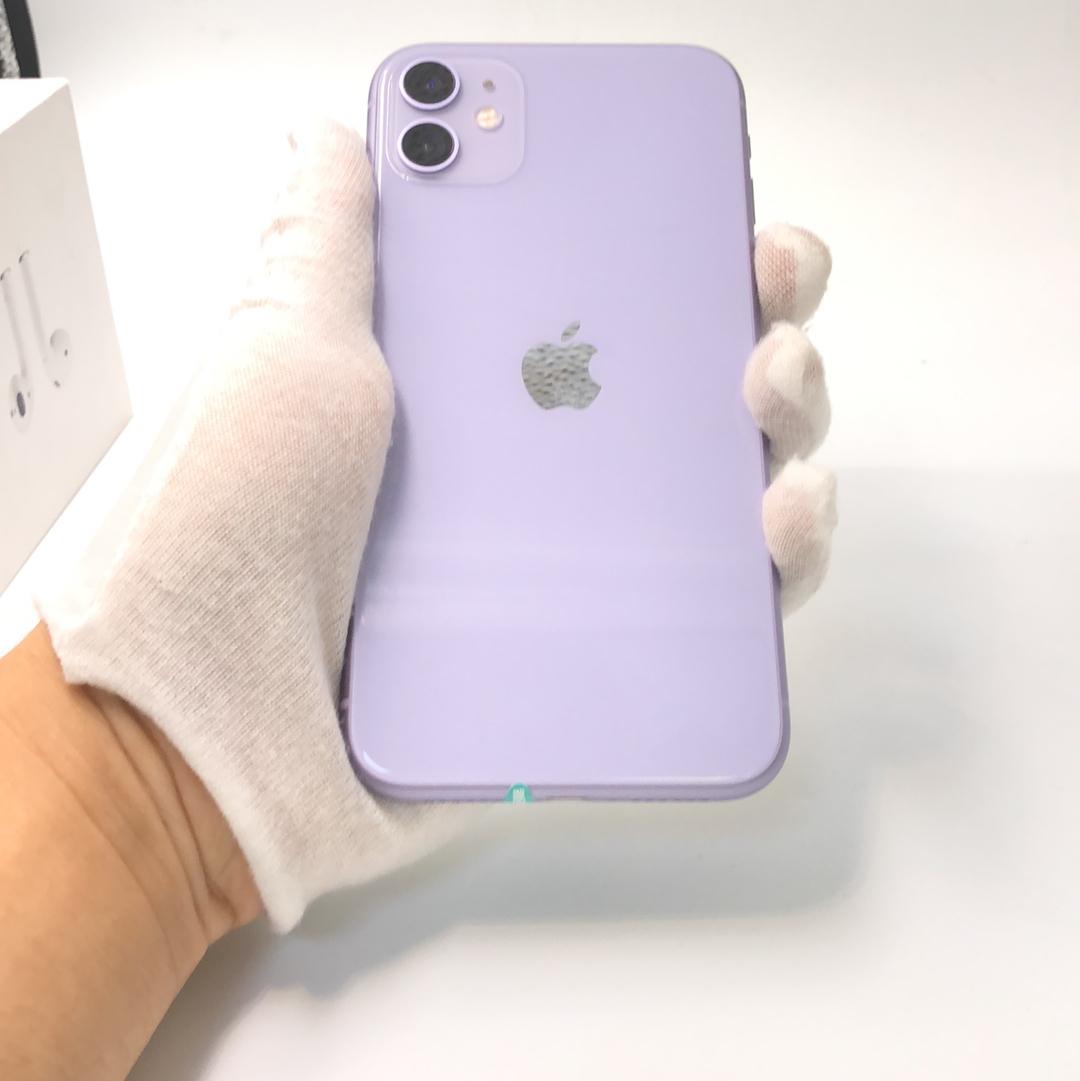 苹果【iPhone 11】4G全网通 紫色 128G 国行 8成新