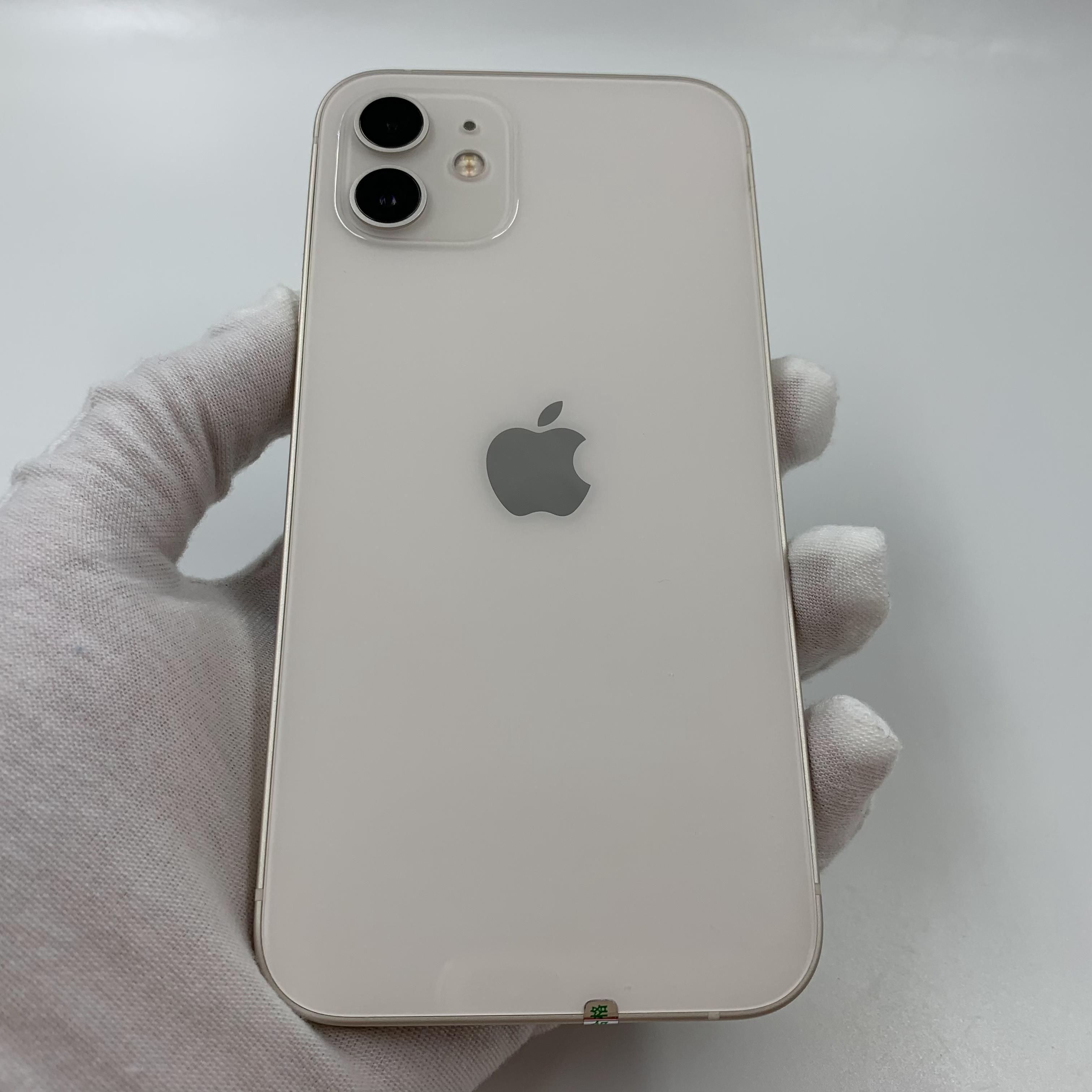 苹果【iPhone 12】5G全网通 白色 128G 国行 95新 真机实拍官保2021-11-06