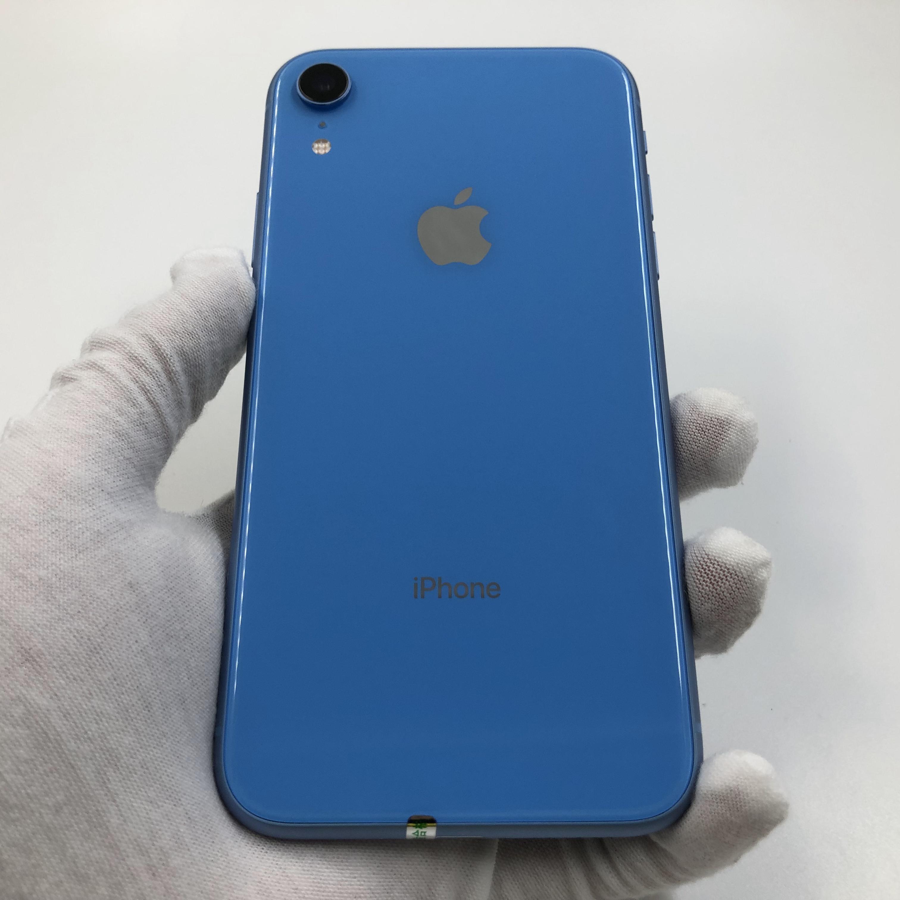 苹果【iPhone XR】4G全网通 蓝色 128G 国行 95新 真机实拍