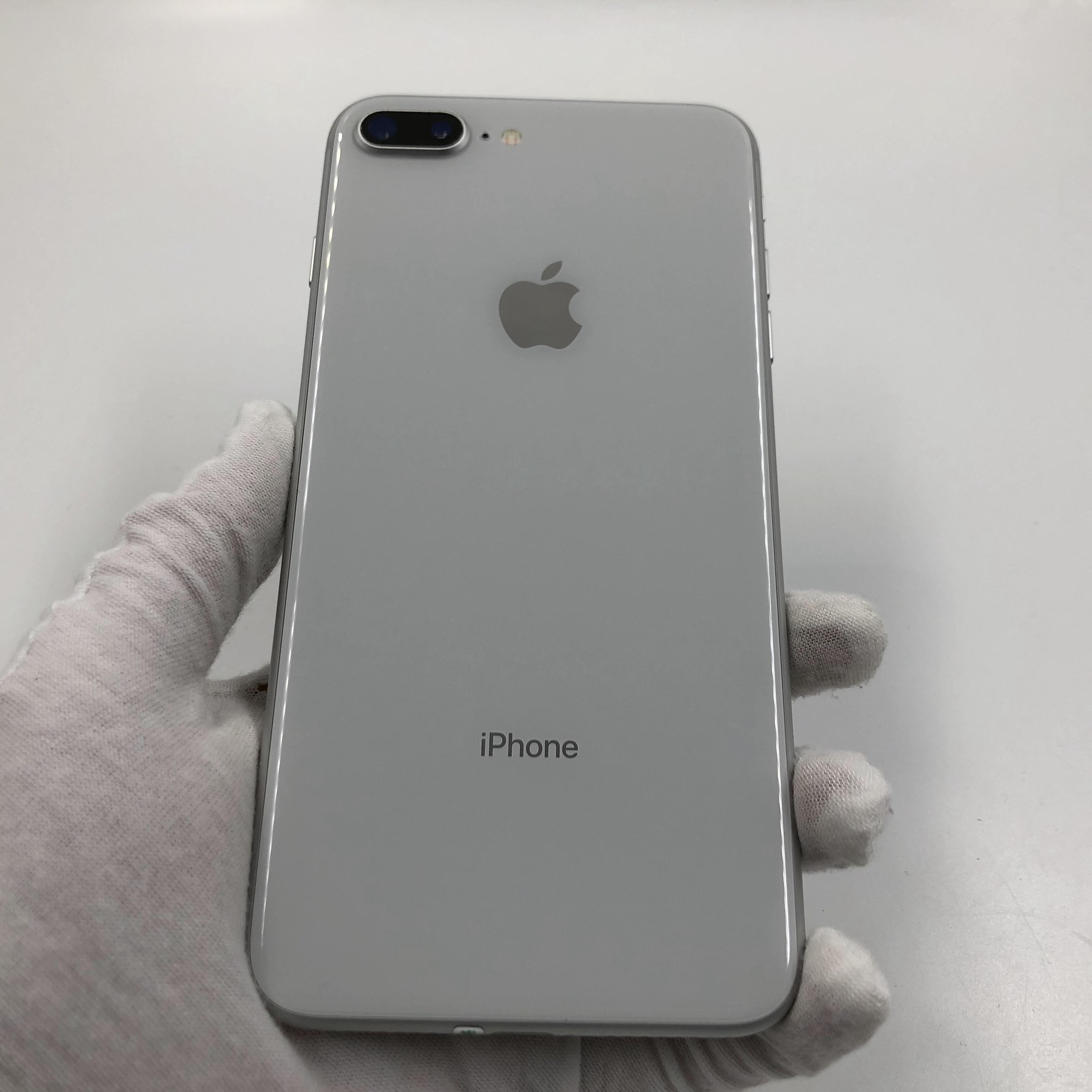 苹果【iPhone 8 Plus】4G全网通 银色 256G 国行 95新 真机实拍