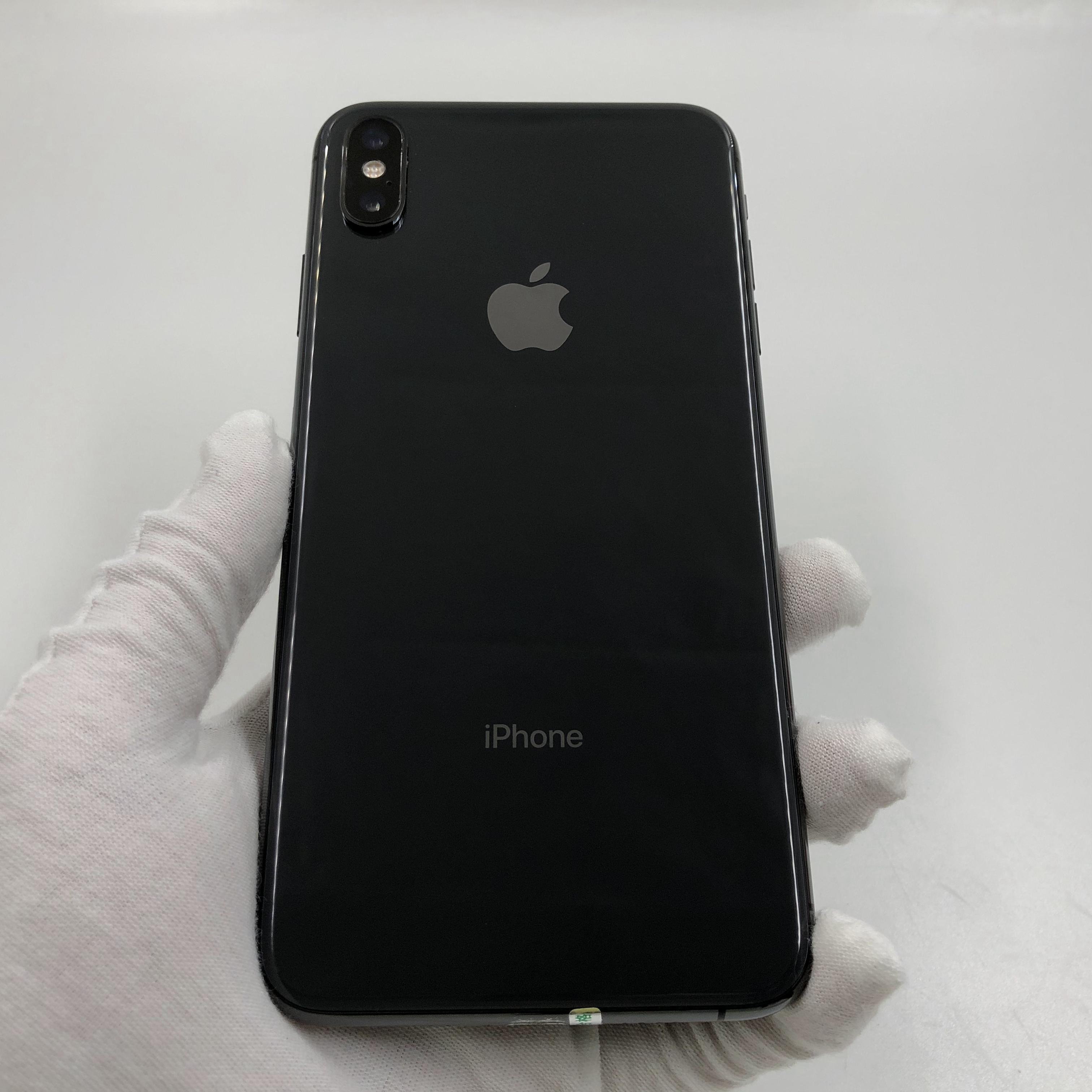 苹果【iPhone Xs Max】4G全网通 深空灰 64G 国行 8成新 真机实拍