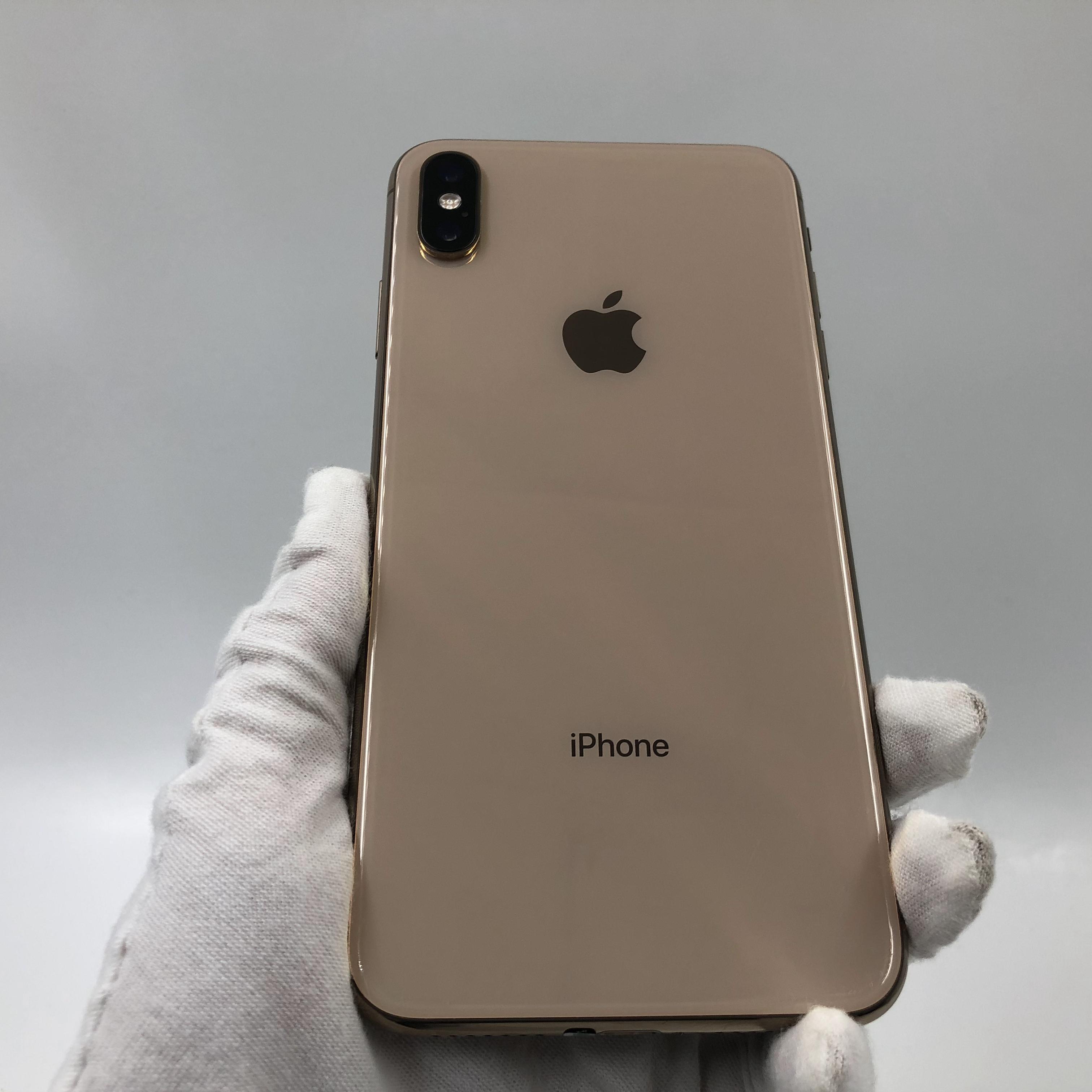 苹果【iPhone Xs Max】4G全网通 金色 64G 国行 9成新 真机实拍
