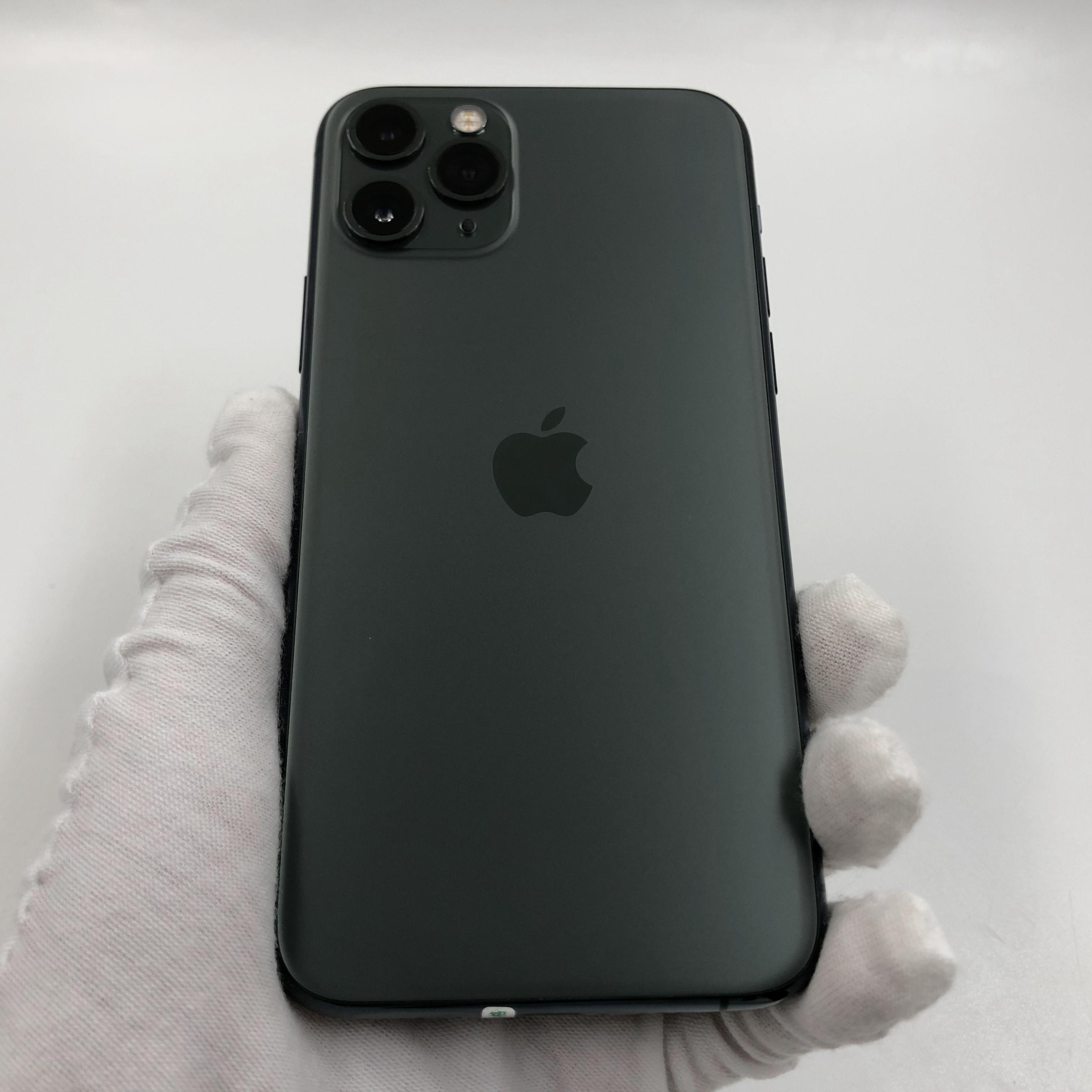 苹果【iPhone 11 Pro】4G全网通 暗夜绿色 64G 国行 95新 真机实拍