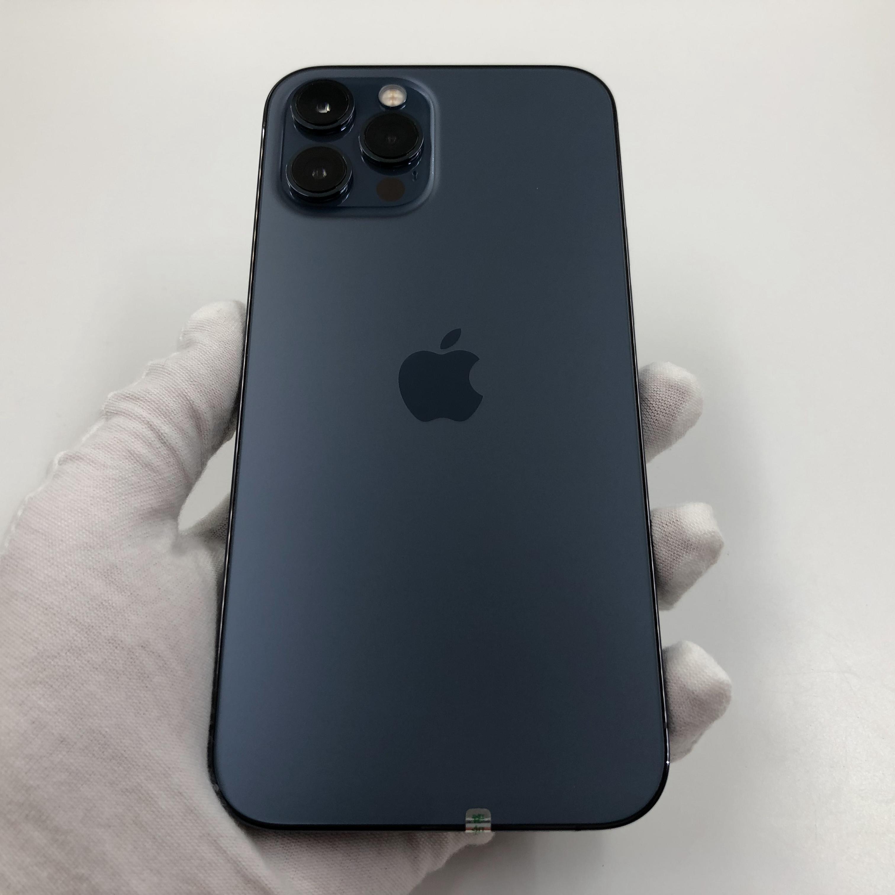 苹果【iPhone 12 Pro Max】5G全网通 海蓝色 256G 国行 95新 真机实拍官保2021-12-29