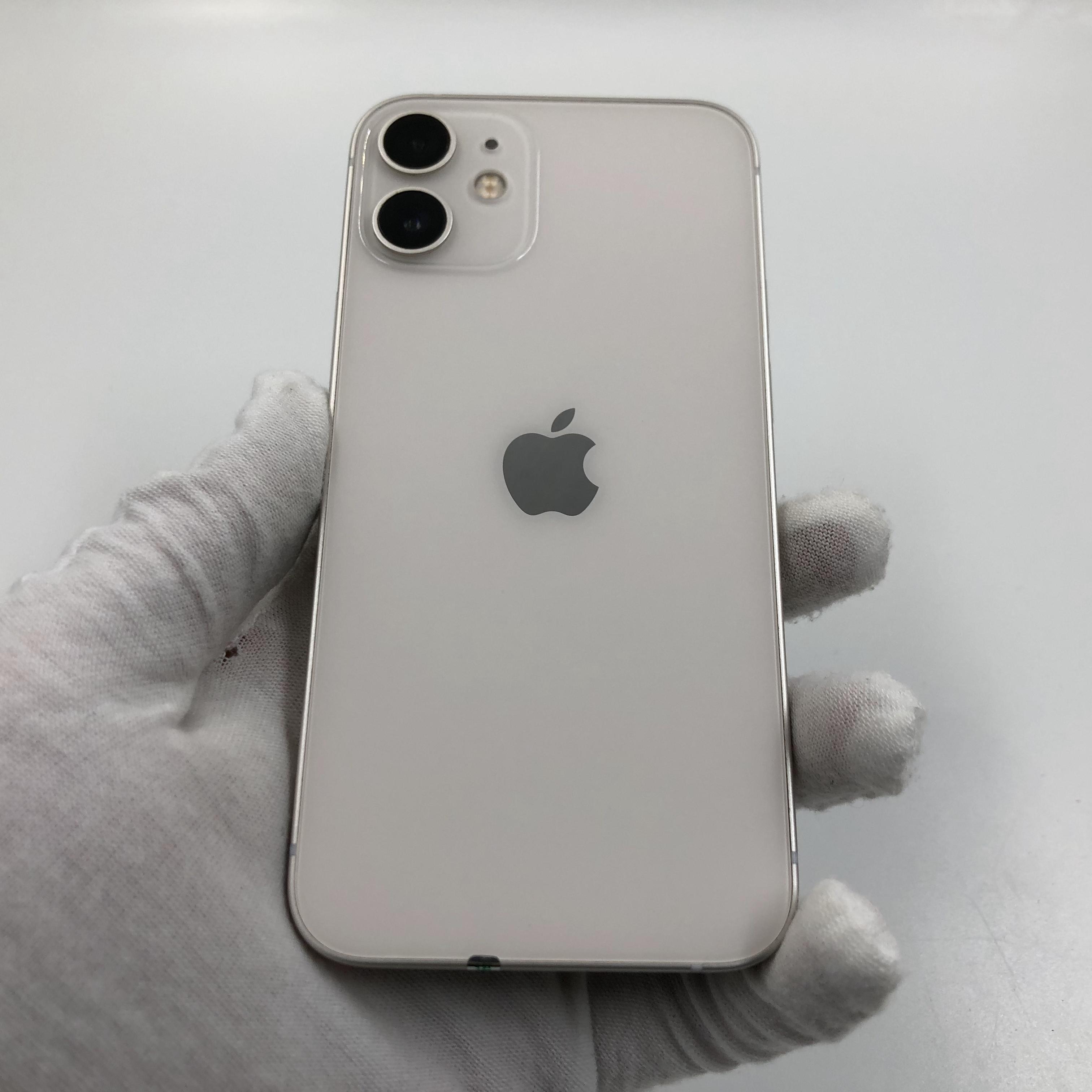 苹果【iPhone 12 mini】5G全网通 白色 128G 国行 95新 真机实拍官保2021-12-22