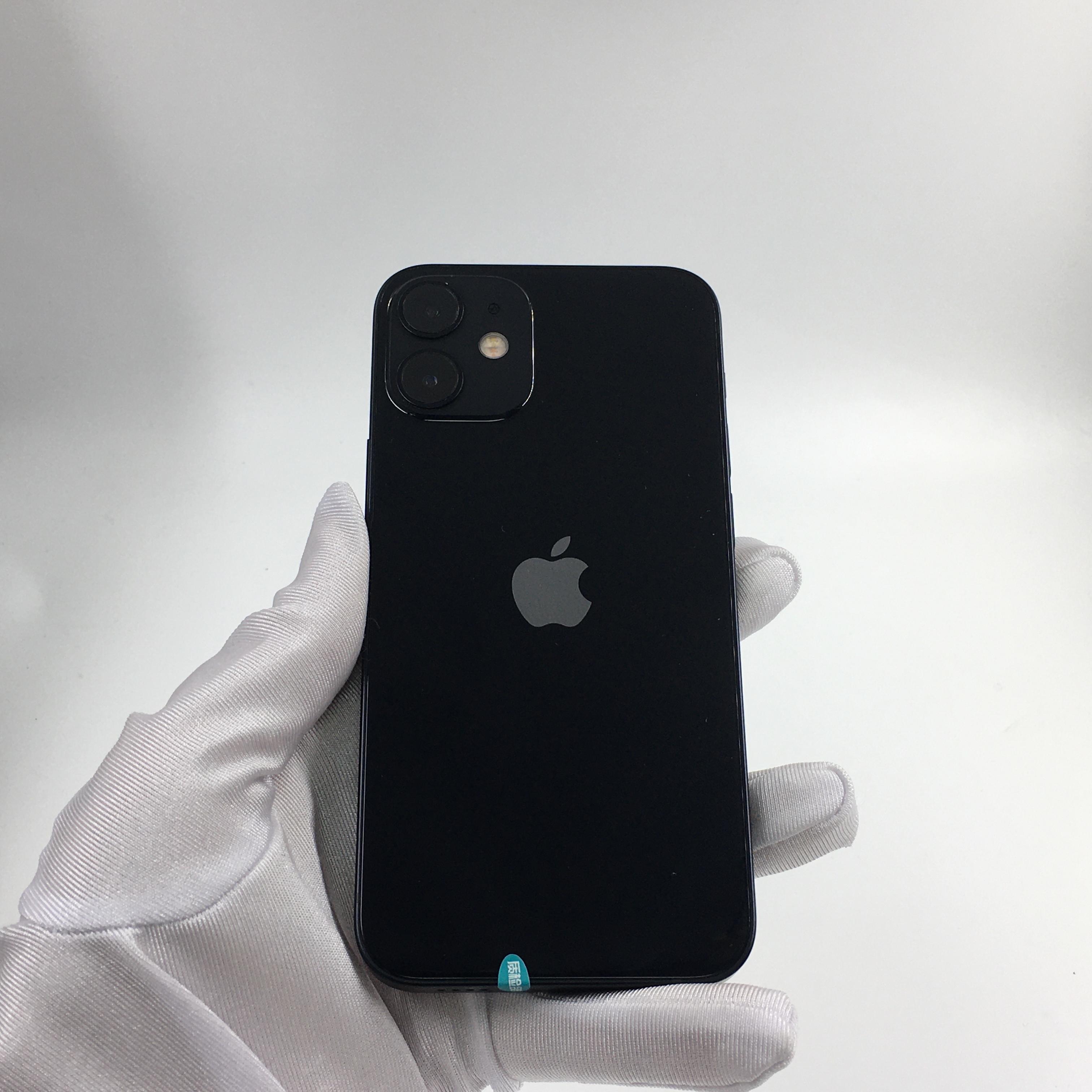 苹果【iPhone 12 mini】5G全网通 黑色 128G 国行 95新 128G真机实拍