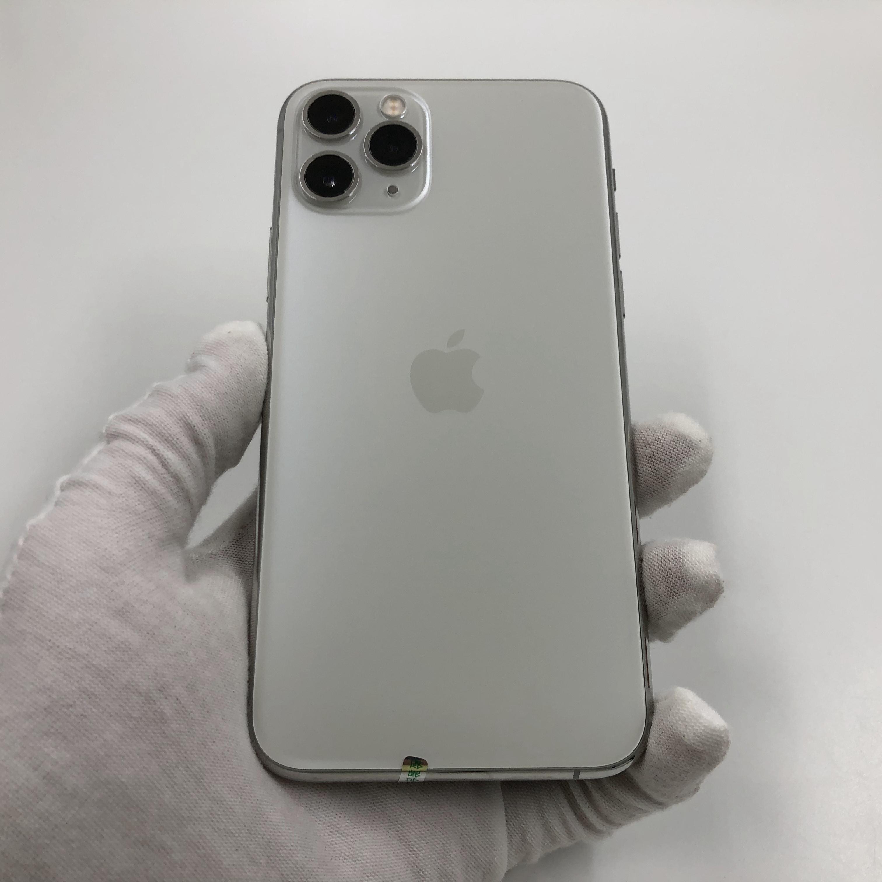 苹果【iPhone 11 Pro】4G全网通 银色 64G 国行 95新 真机实拍