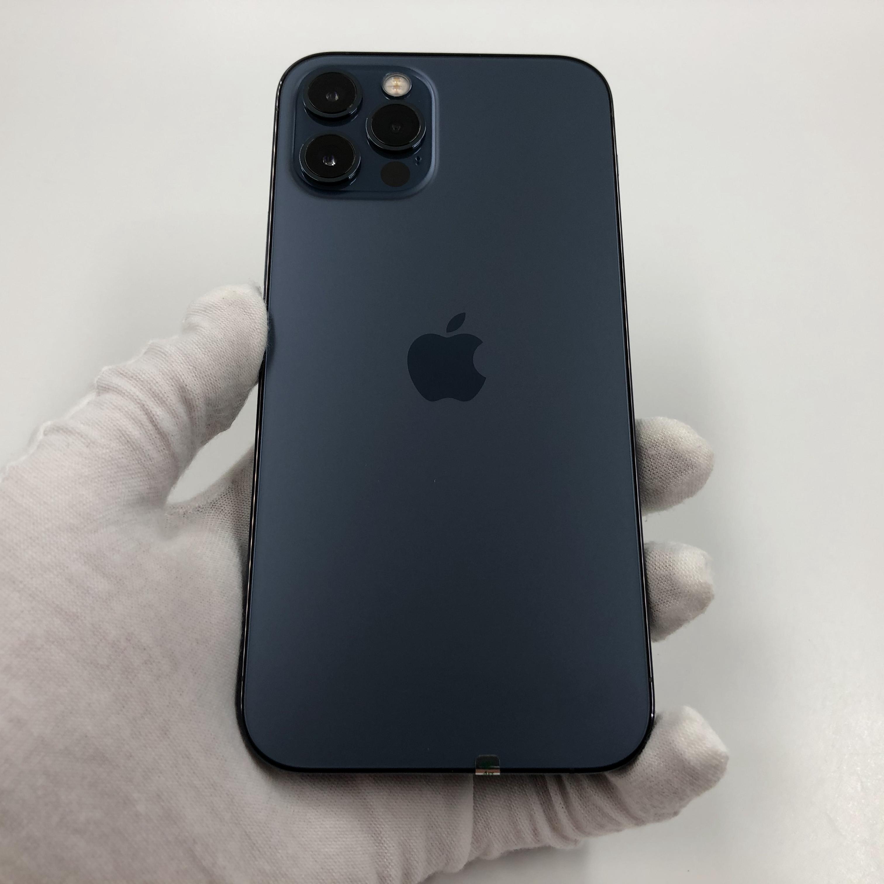 苹果【iPhone 12 Pro】5G全网通 海蓝色 128G 国行 95新 真机实拍官保2021-10-24