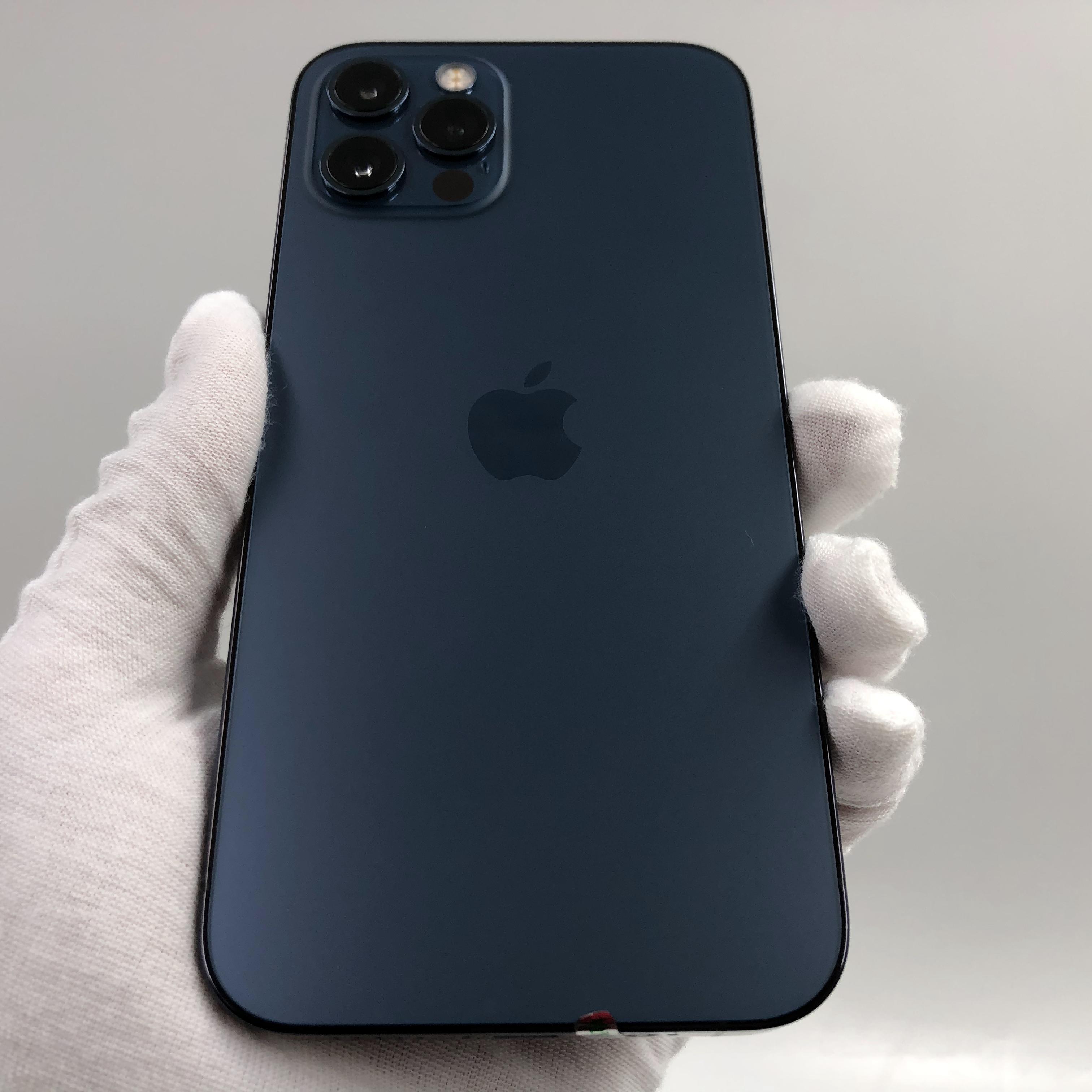 苹果【iPhone 12 Pro】5G全网通 海蓝色 128G 国行 99新 真机实拍官保2022-03-05