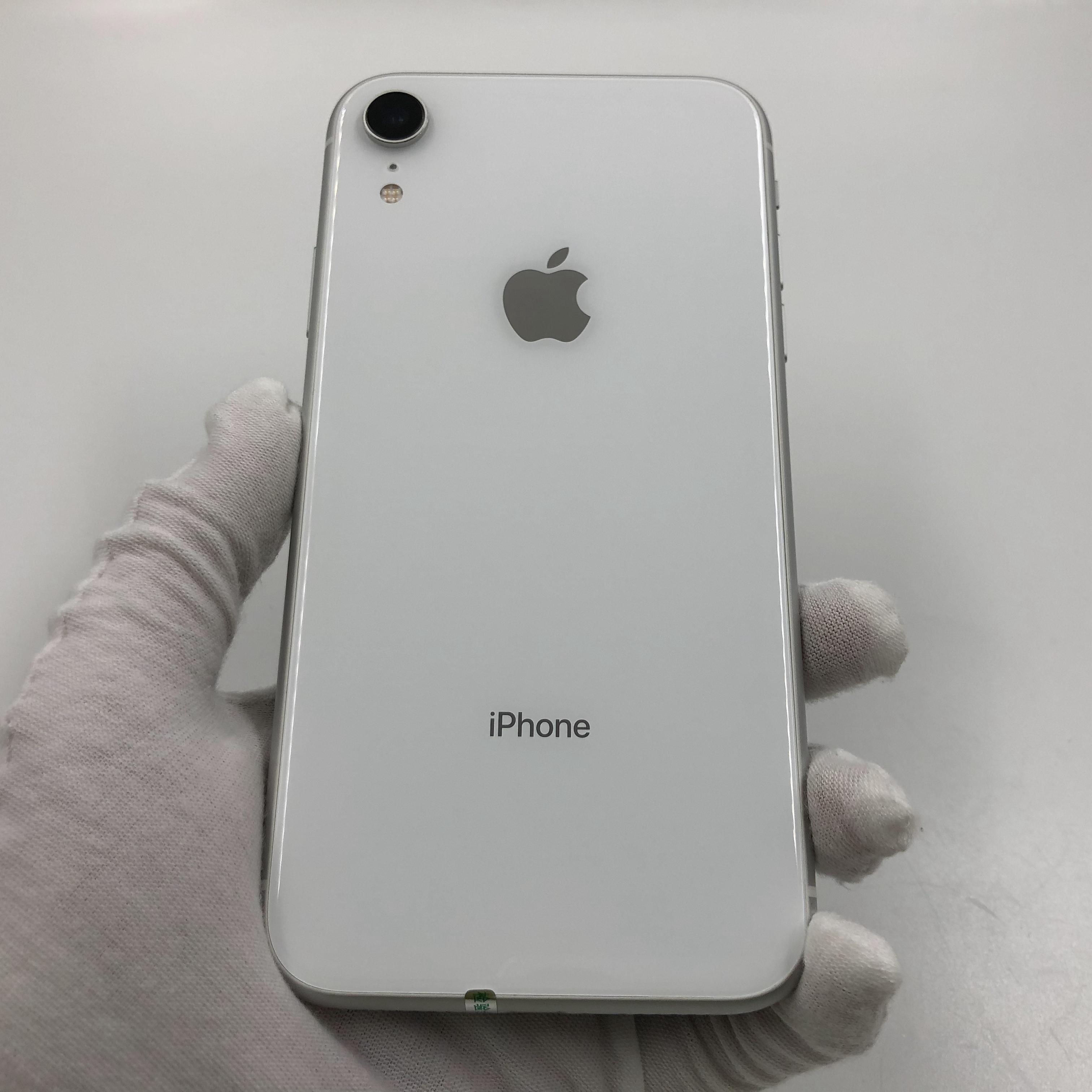 苹果【iPhone XR】4G全网通 白色 128G 国行 8成新 真机实拍