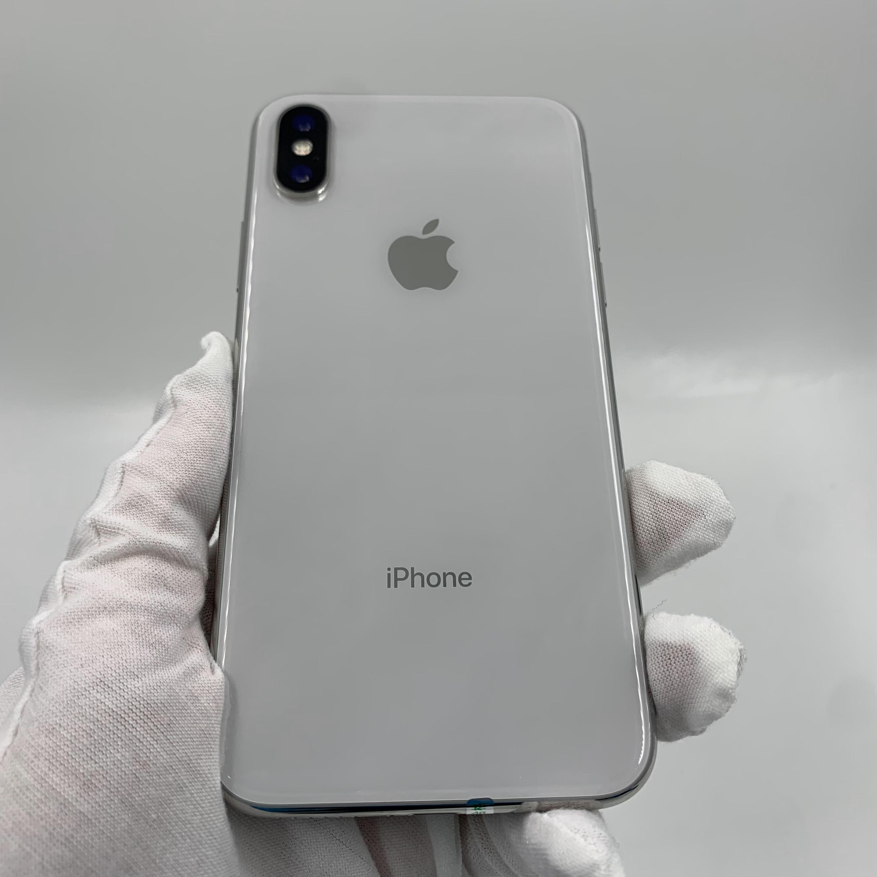 苹果【iPhone X】4G全网通 银色 64G 国行 95新 真机实拍