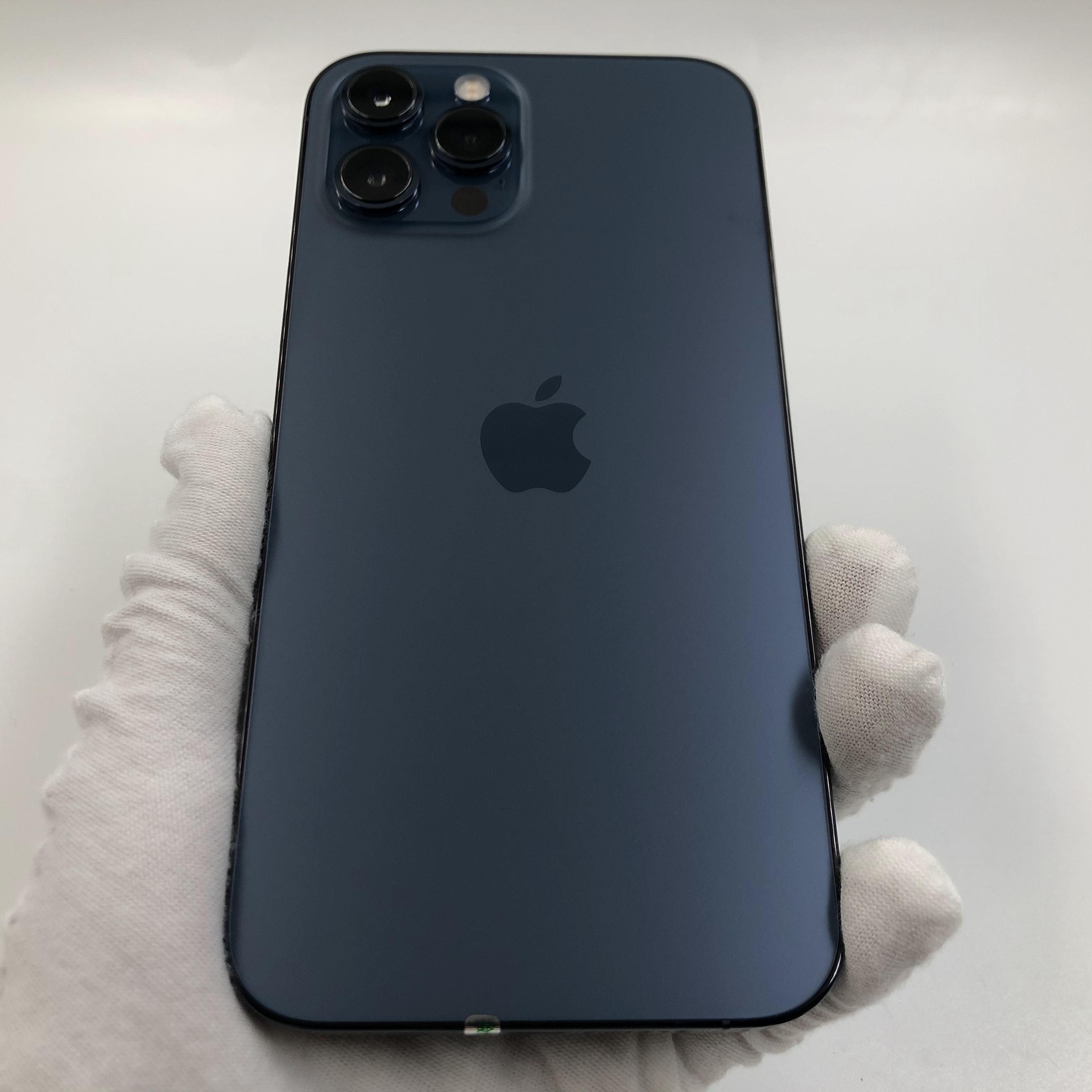 苹果【iPhone 12 Pro Max】5G全网通 海蓝色 512G 国行 95新 真机实拍保修2022-04-25