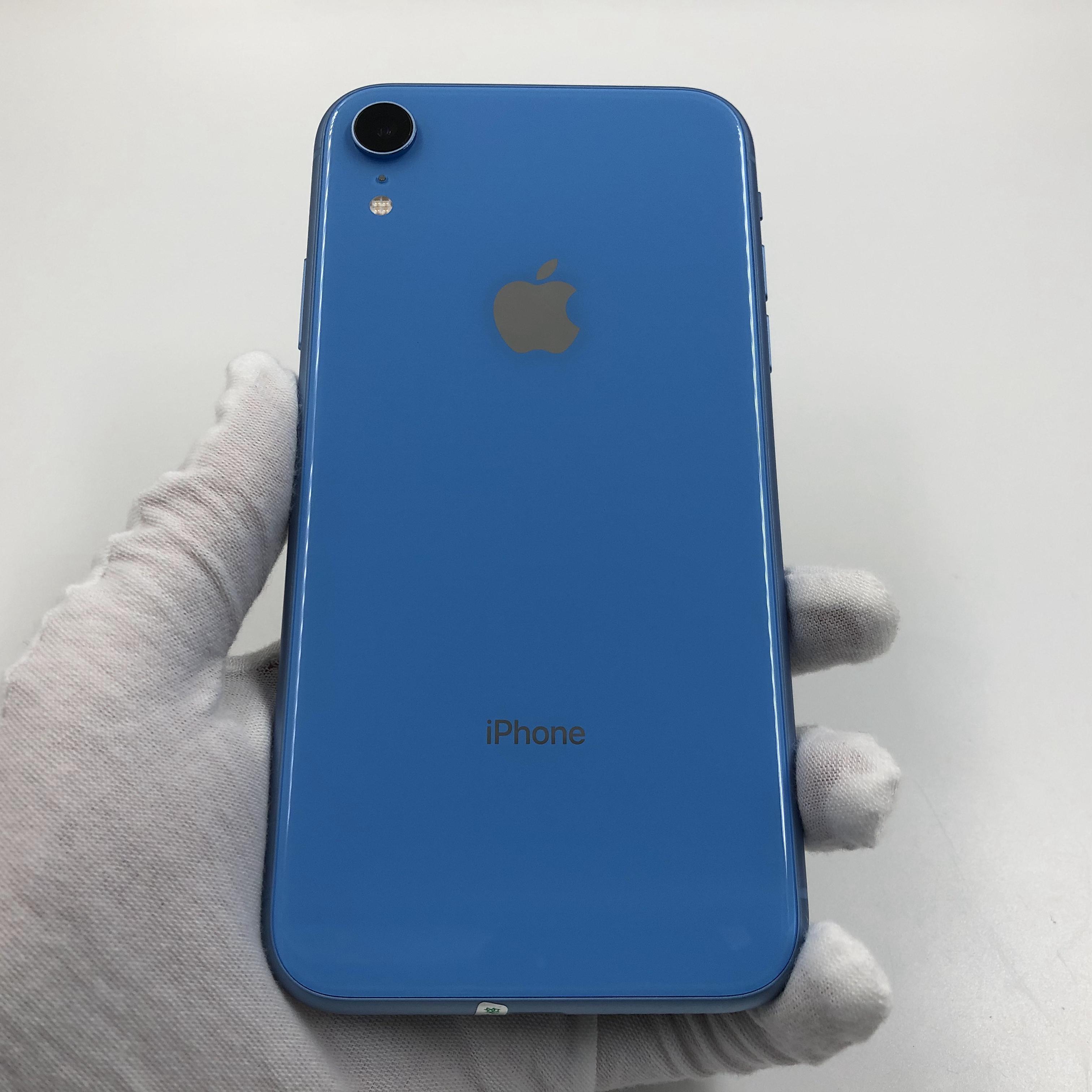 苹果【iPhone XR】4G全网通 蓝色 64G 国行 95新 真机实拍