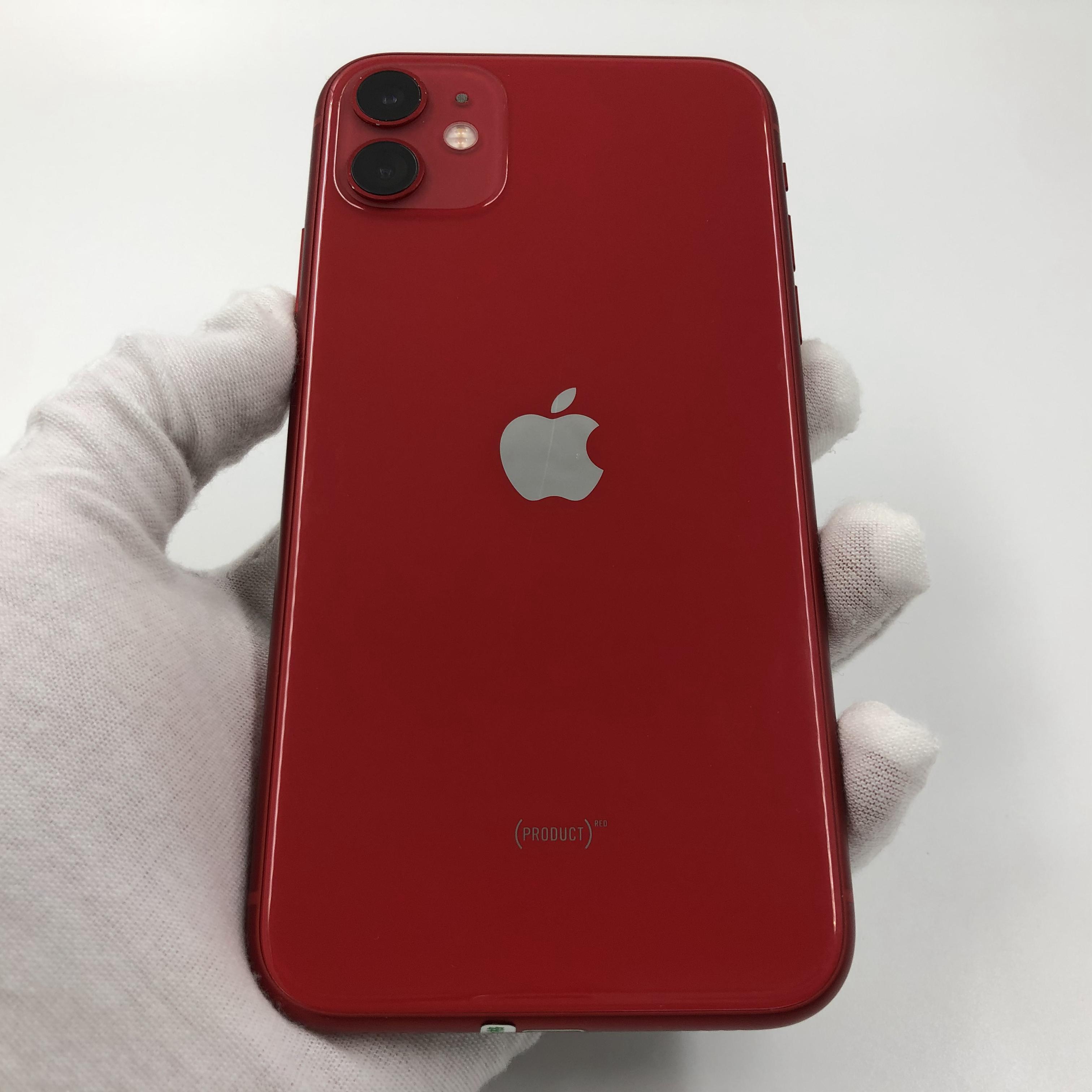 苹果【iPhone 11】4G全网通 红色 64G 国行 8成新 真机实拍