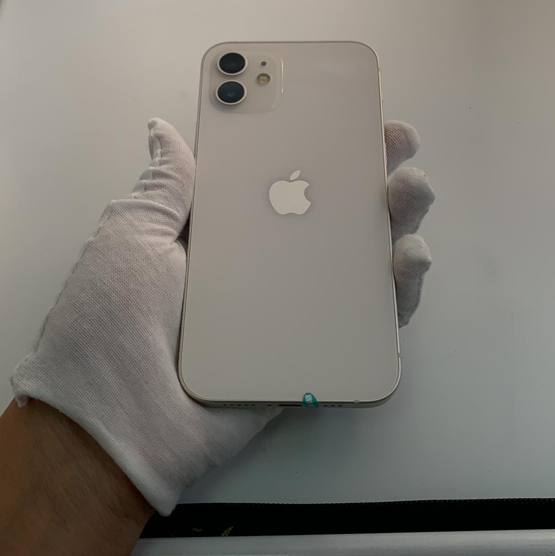 苹果【iPhone 12】5G全网通 白色 64G 国行 9成新