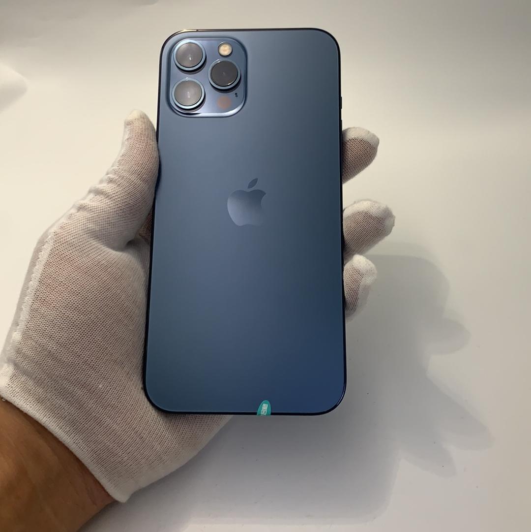 苹果【iPhone 12 Pro Max】4G全网通 海蓝色 256G 国行 99新
